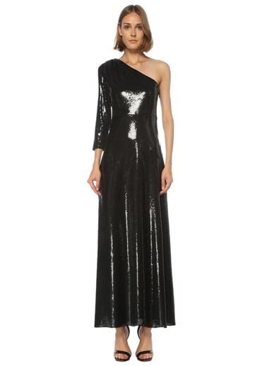 Beymen Club Beymen Club  Tek Omuzlu İşlemeli Maksi Abiye Elbise 101514753 Siyah
